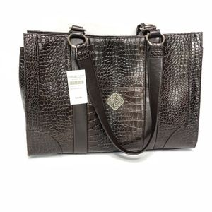 Coldwater Creek Faux Brown Leather Bag NWT
